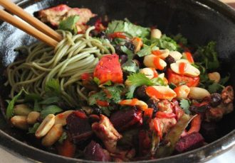 Green-Tea-Soba-Noodles-With-Roasted-Vegetables-and-Herbs2-1200x773