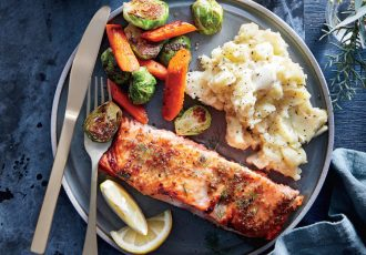 mustard-glazed-salmon-horseradish-mashed-potatoes